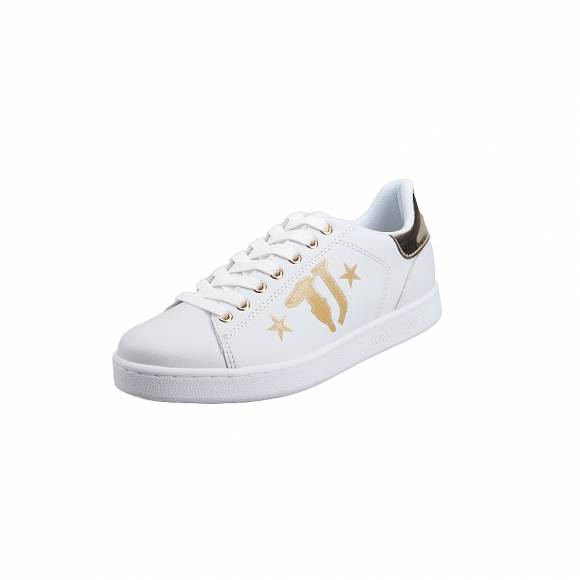 Γυναικεία Sneakers Trussardi Jeans Sneakers Sunthetic Calf Leather Printed 79A00391 9Y099999 M053 Logo with Stars light Gold