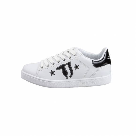 Γυναικεία Sneakers Trussardi Jeans Sneakers Calf Leather Printed  79A00391 9Y09999 K299 Logo with Stars  Black