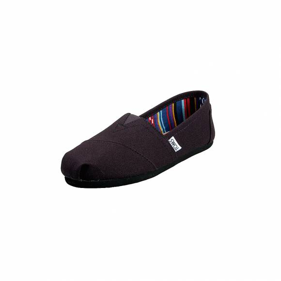 Toms 10002472 Black Black Canvas Wm Clsc Alprg