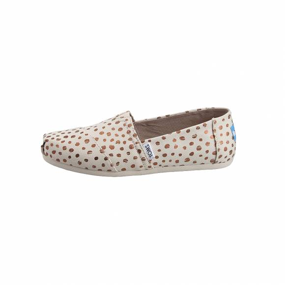 Toms 10011646 Natural canv Dot wm alpr esp