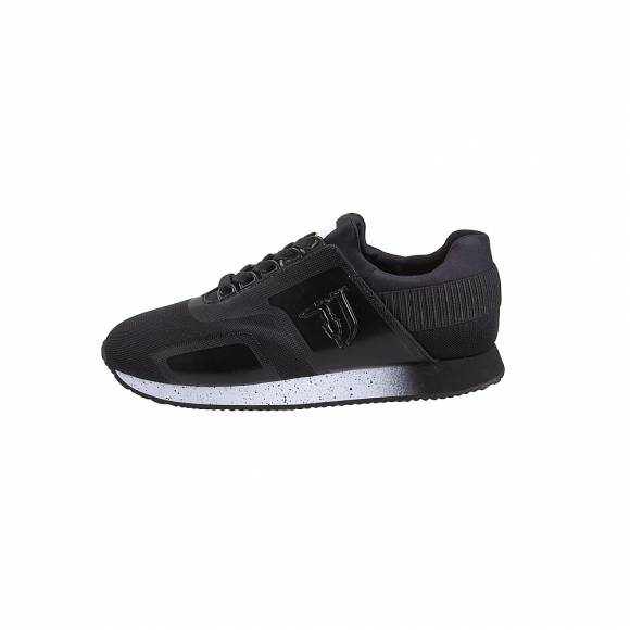 Ανδρικά Sneakers Trussardi Jeans Running Nylon Mesh/ Shiny Neoprene/ Glitter Elastic On Back 77A00154 9Y099999 k299 Black
