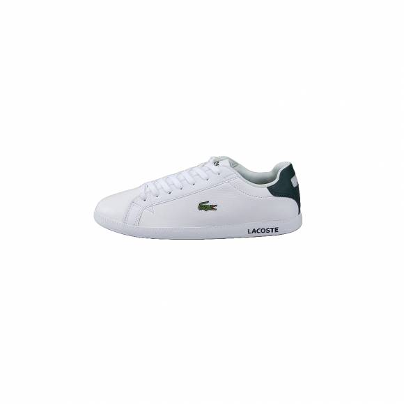 Lacoste Graduate Lcr3 118 1 spm Wht Dk grn Leather/Synthetic 7-35SPM00131R5