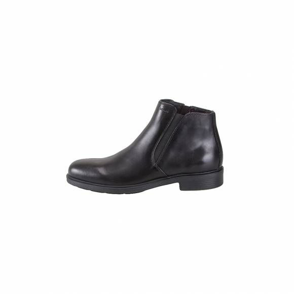 Geox 34R2D 00043 C9999 Duplin smooth leather Blak ankle boots everyday comfort