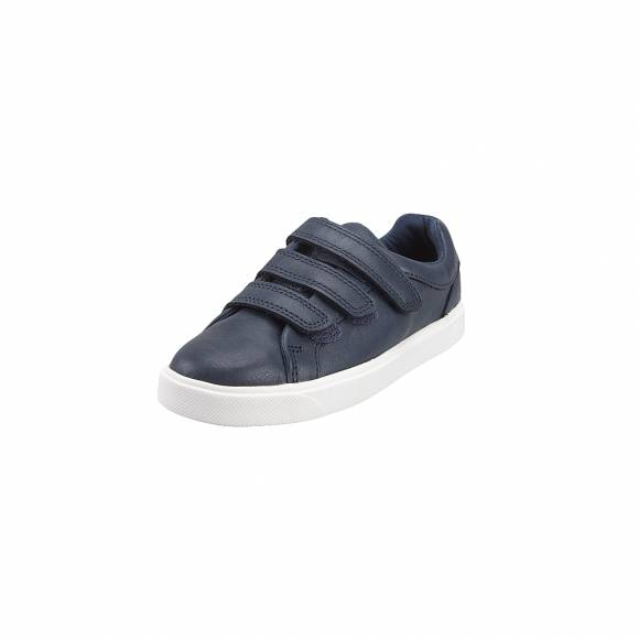 Παιδικά Δερμάτινα Sneakers Clarks City OasisLo K 26140498 Navy