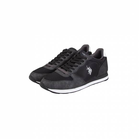 US POLO ASSN SHERIDAN1 CLUB BLK SYNTHETIC TEXTILE