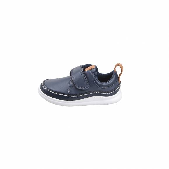Παιδικά Δερμάτινα Slippers Clarks Cloud Ember T 26140504 Navy leather