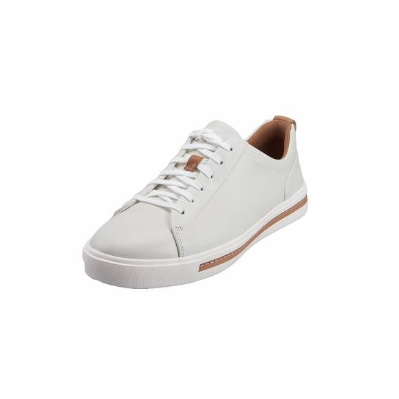 Γυναικεία Δερμάτινα Sneakers Clarks Un Maui Lace 26140168 White leather