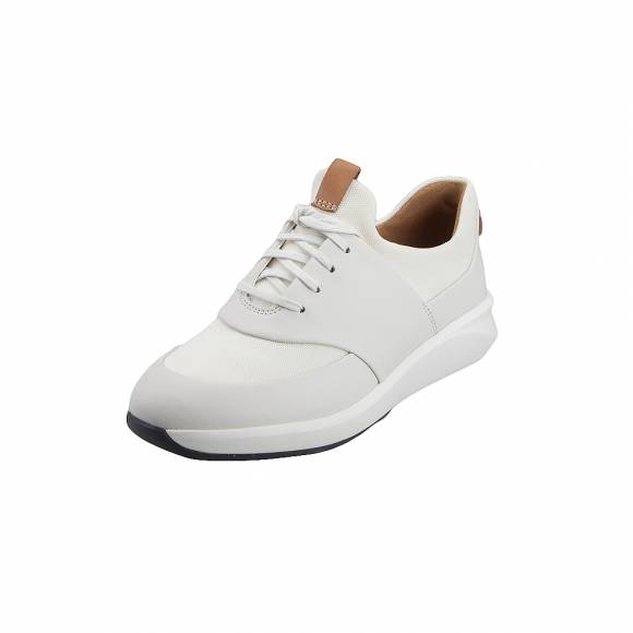 Γυναικεία Δερμάτινα Sneakers Clarks Un Rio Lace 26140398 White Leather