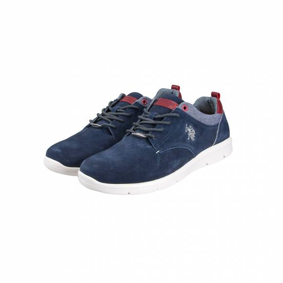 US POLO ASSN SERGE1 BLUE SUEDE