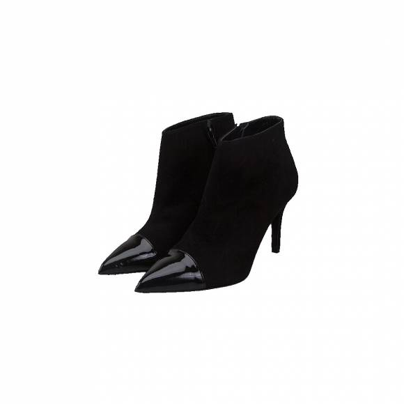 NELLY SHOES NL 024-01 BLACK SUEDE PAT
