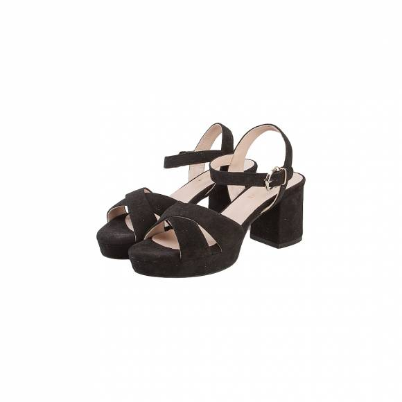 NELLY SHOES 232 -4 BLACK SUEDE