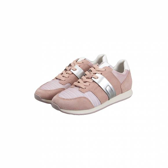 GEOX D746FD 02214 C8056 DEYNNA SUEDE MESH ANTIQUE ROSE