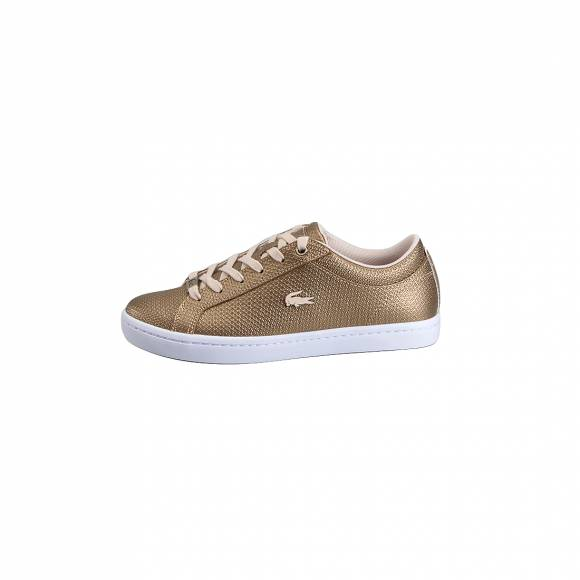 LACOSTE STRAIGHTSET 118 3 CAW GLD/NAT LEATHER 7-35CAW0066GN5