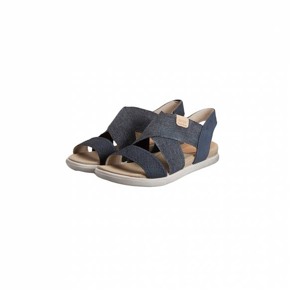 ECCO DAMARA SANDAL 248223 58658 BLACK BLACK POWDER