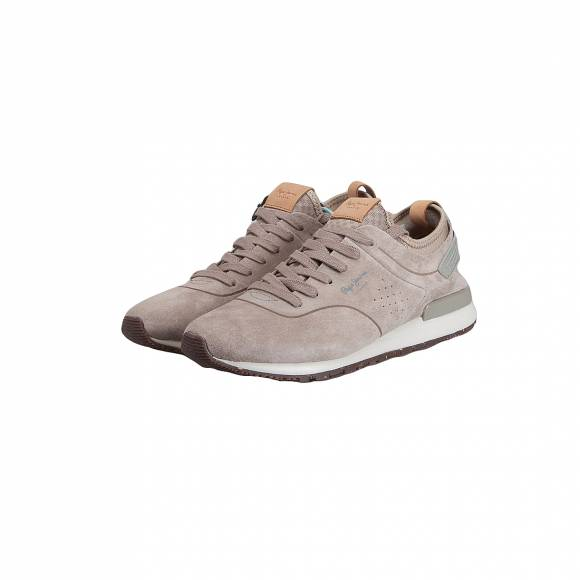Pepe Jeans Denim Jayden 2.1 Essentials Trainers in Natural