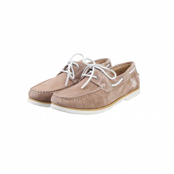 US POLO ASSN  EVALD8208S7/S1 RUDOLF SUEDE TAUPE