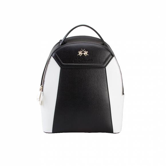 LA MARTINA BACKPACK 41JBA1 W0818 BLACK WHITE