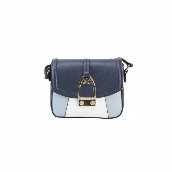LA MARTINA SMALL SHOULDER BAG 41JBA1 W0812 BLUE WHITE LIGHT BLUE
