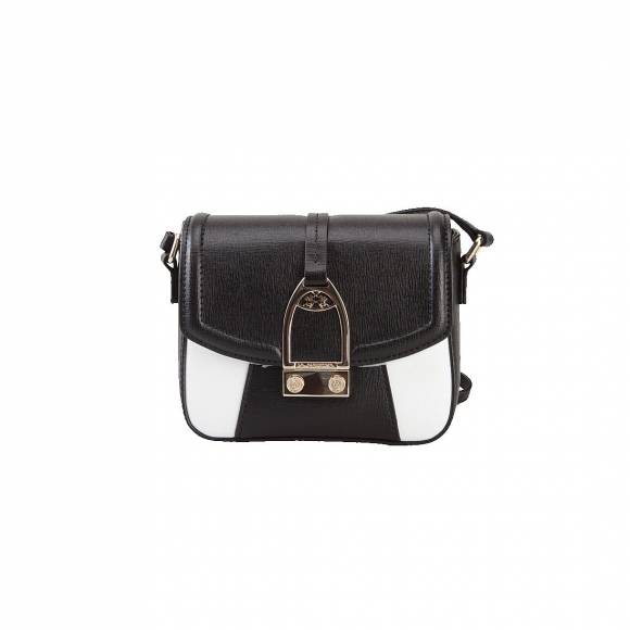 LA MARTINA SMALL SHOULDER BAG 41JBA1 W0812 BLACK WHITE