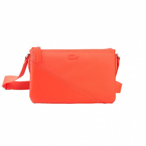 LACOSTE NF2105LL 016 ORANGE.COM FLAT CROSSOVER BAG
