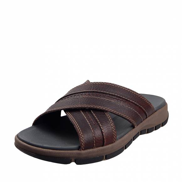Ανδρικά Σανδάλια Clarks Brixdy Cross 26131526 7 Dark Brown leather