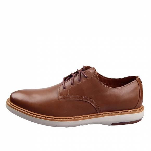 Ανδρικά Παπούτσια Casual Clarks Draper Lace 26149634 7 Tan leather