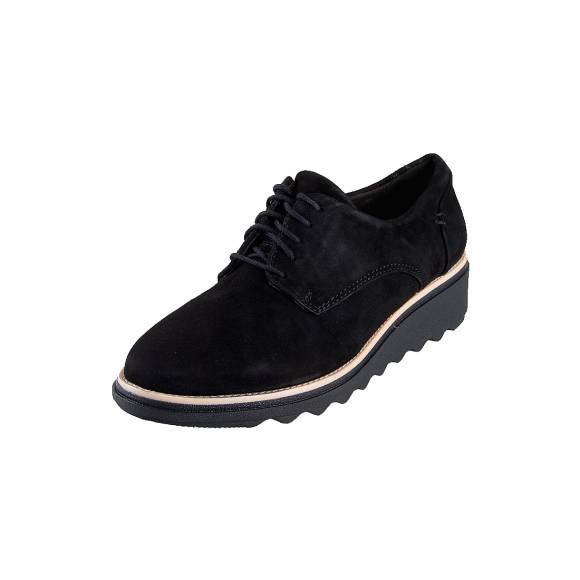 Γυναικεία Δερμάτινα Oxford Clarks Sharon Noel 26136362 Black Nubuck