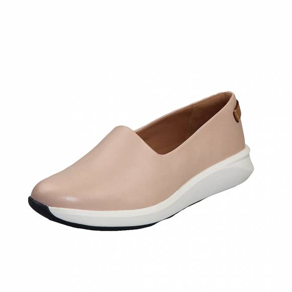 Γυναικεία Δερμάτινα Slippers Clarks unstructured Un Rio Step 26149713 4 Blush leather