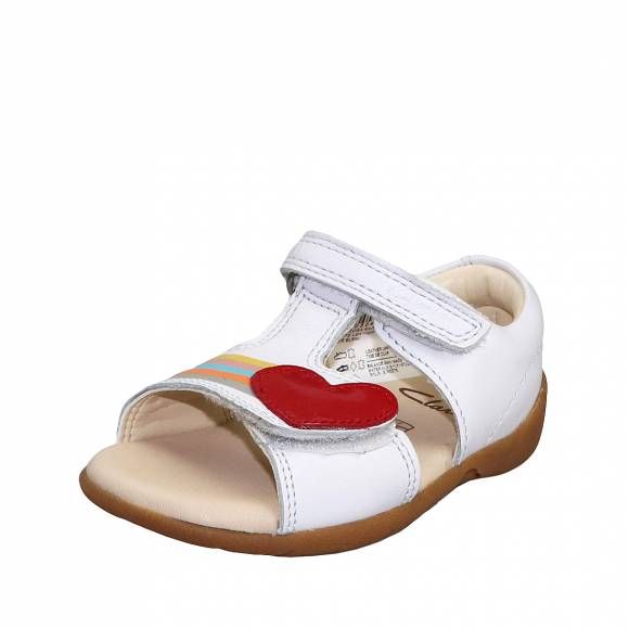 Παιδικά Πέδιλα Clarks Zora Rain T 26150533 White leather