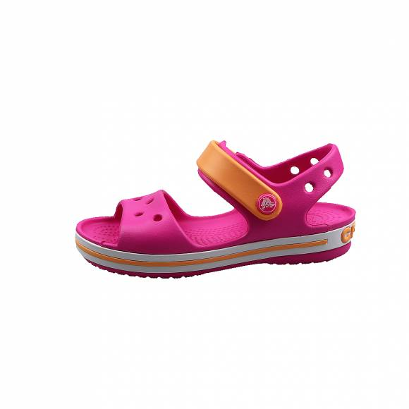 Παιδικά Σανδάλια Crocs 12856 6QZ Crocband Sandal kids Electric Pink Cantalupe relaxed fit