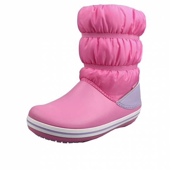 Παιδικά Γαλοτσάκια Crocs 206550 6qm Crocband Winter Boot K Relaxed Fit Pink Lemonade Lavender