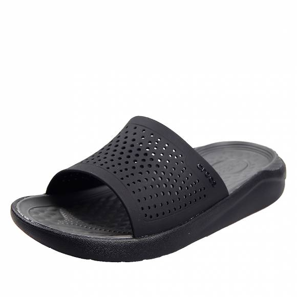 Ανδρικές slider Crocs literide slide black slate grey relaxed fit 205183 000