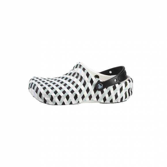 CROCS BISTRO GINGHAM CLOG WHITE ROOM FIT 20428-100