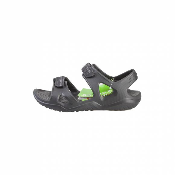 CROCS SWIFTWATER RIVER SANDAL M BLACK BLACK RELAXED FIT 203965-060