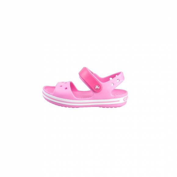 CROCS CROCBAND SANDAL KIDS CANDY PINK/PARTY PINK RELAXED FIT 12856-6LR