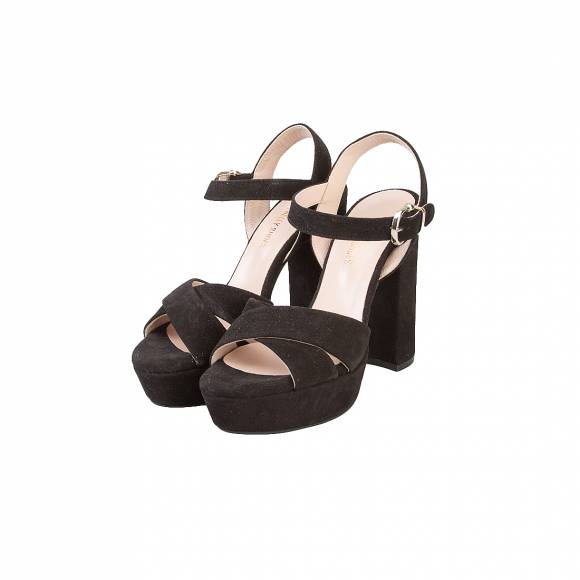 NELLY SHOES 213-23 BLACK SUEDE