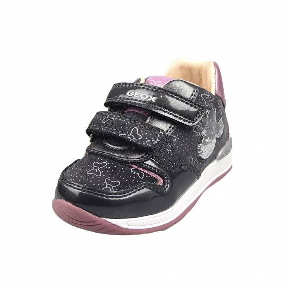 Παιδικά Sneakers Geox B040LC 022HI C9002 Rishon Girl suede met syn patentDk Grey baby first steps