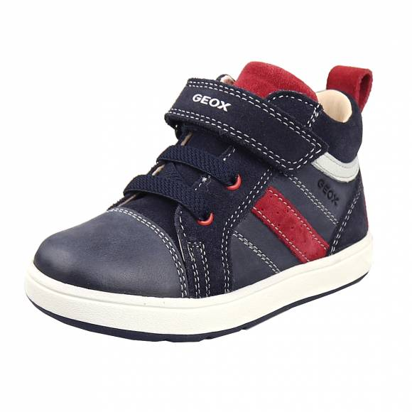Παιδικά Sneakers Geox B044DA 0CL22 C4244 B Biglia Boy Wax Leather Suede Baby First Steps Navy Dk Red