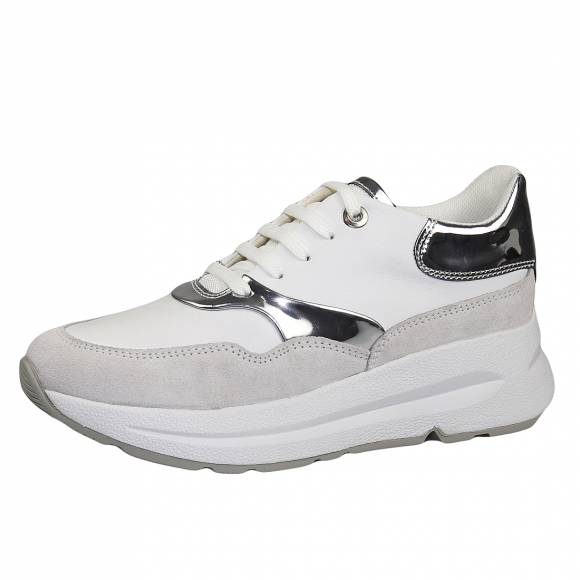 Γυναικεία Sneakers Geox D02FLC 085BN C0007 Backsie White/Silver