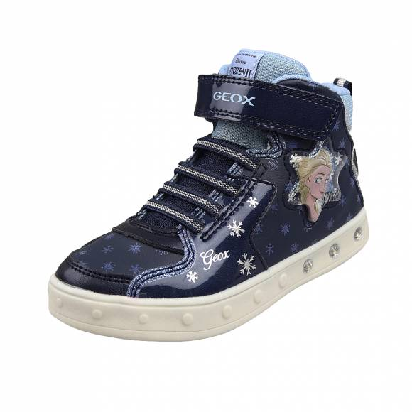 Παιδικά Sneakers Geox J048WB 00402 C4231 Skylin Girl prn gbk patent Navy Sky junior sneakers ACTIVE