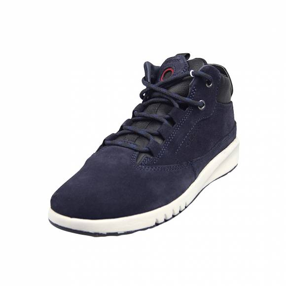 Παιδικά Sneakers Geox J04BNA 022BU C4244 Aeranter Boy suede tumb gbk Navy Dk Red Junior