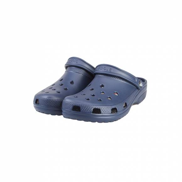 CROCS CLASSIC NAVY ROOMY FIT 10001-410