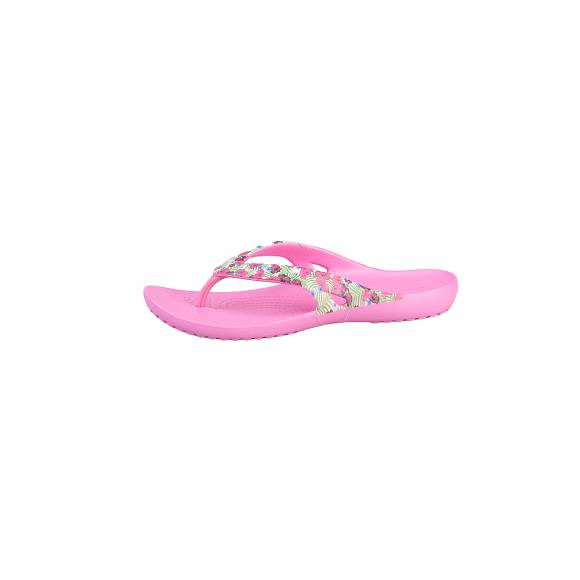 CROCS KADEE II GRAPHIC FLIP W PINK FLORAL RELAXED FIT 204231-6JL
