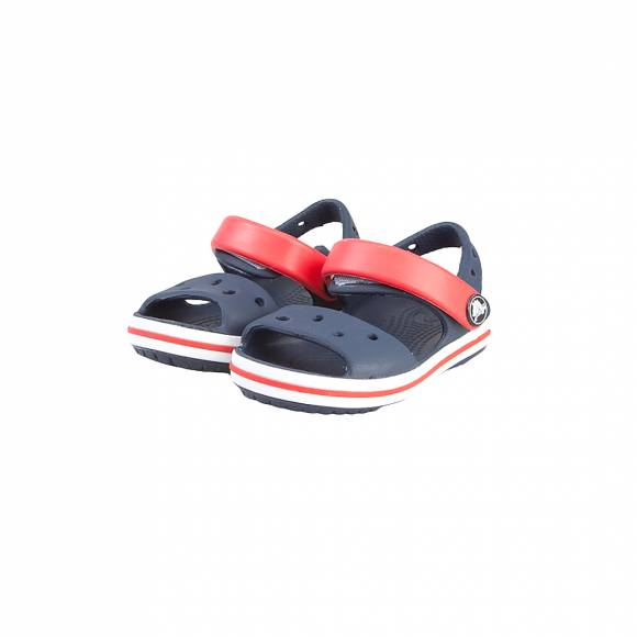 80220ee5f102 ... CROCS CROCBAND SANDAL KIDS NAVY RED RELAXED FIT 12856-485