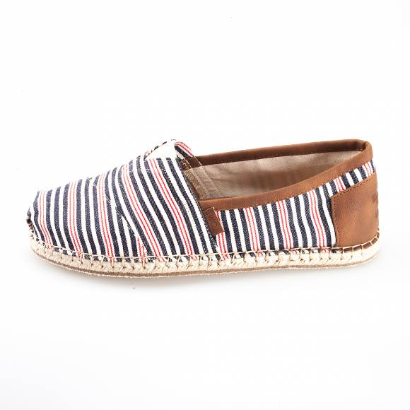 TOMS CLASSIC NAVY RED WOVEN STRIPE BLANKET STITCH 10008367
