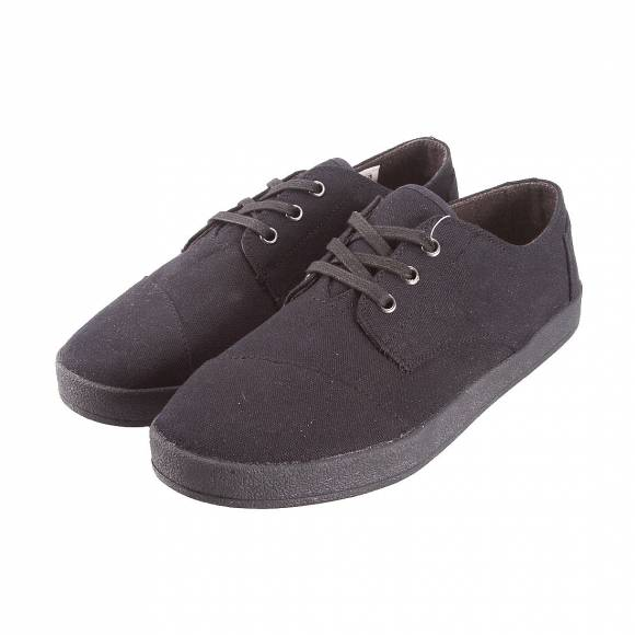 TOMS PASEO BLACK ON BLACK CANVAS 10007003