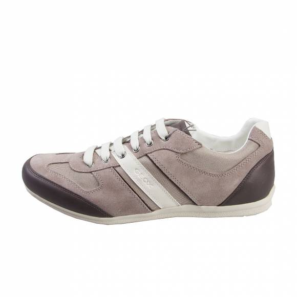GEOX U42P1A HOUSTON OFF WHITE TAUPE