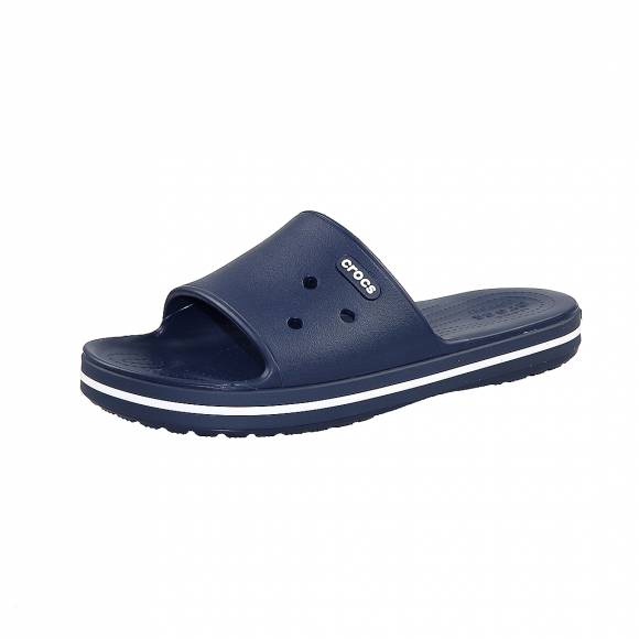 Ανδρικές Σαγιονάρες Crocs 205733 462 Crocband III Slide Navy White Relaxed Fit