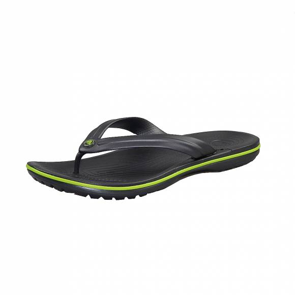 Ανδρικές Σαγιονάρες Crocs Crocband 11033 0A1 flip Graphite volt Green Relaxed Fit
