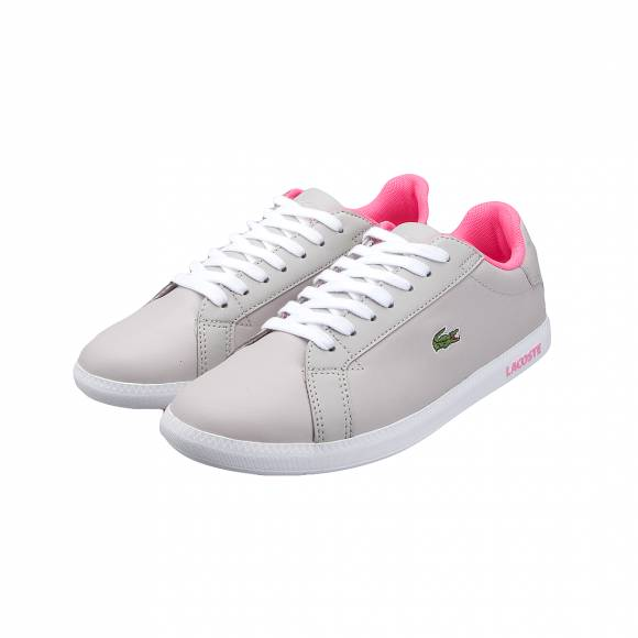 LACOSTE GRADUATE 118 1 SPW LT GRY/WHT LTH/SYN 7-35SPW302Q5